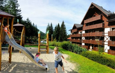 Unique playground for children at Wellness Hotel Chopok ****